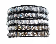 A-Ha - 6mm Glass Beads Wrap Bracelet Black Leather (33-1/... https://www.amazon.com/dp/B017JF03JG/ref=cm_sw_r_pi_dp_x_spZoybT94YGW3