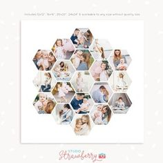 Heart Shaped Photo Collage, Heart Collage, Shape Collage, Photo Collage Template, Photography Collage, Moon Shapes, Photo Heart, Photoshop Elements, Birthday Greeting Cards