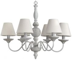 Rustic Cream Coloured metal 6 Lamp Ceiling Light with Shades £180