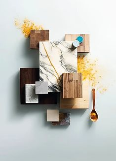 A moodboard is always an inspiration to interior design! Interior Fit Out, Interior Design Kitchen, Kitchen Decor, Interior Decorating, Material Board, Still Life Photographers, Concept Board, Color Of Life, Interior Inspiration