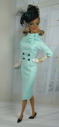 "11 February 2013 - ""Travaillé"" (""Elaborate"") for 'Silkstone' Barbie & FR Victoire Roux (pictured) by 'Matisse Fashions'"