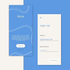 daily ui challenge 001/100 - sign up screen. fonts used: proxima nova & courier new. made on sketch. ...