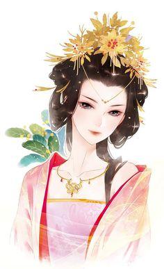 Trường Lam Anime Fantasy, Fantasy Girl, Geisha, Chibi, Chinese Drawings, Female Cartoon Characters, Pretty Anime Girl, Comic, Painting Of Girl