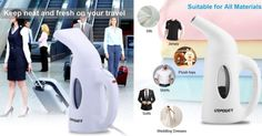 Portable Handheld Garment Steamer $19.99 (Reg. $40)  Do you travel often?  Nevershow up at work with a wrinkled shirt get this compact andPortable Handheld Garment Steamer. Great for those who travel often and even fashion stylist!  Portable Handheld Garment Steamer $19.99 (Reg. $40)  Ships Free with Amazon Prime (Try a FREE Membership)  Perfect Design: New nozzle design that distributes steam powerfully and consistently to remove stubborn wrinkles. And the compact design make the item…