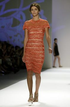 The Tadashi Shoji Spring 2013 collection is modeled during Fashion Week in New York, Thursday, Sept. 6, 2012.