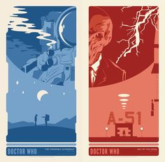 ameba graphics posters for series 6 doctor who episodes 1 and 2