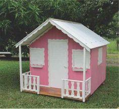 lindas casinhas de boneca de madeira rosa