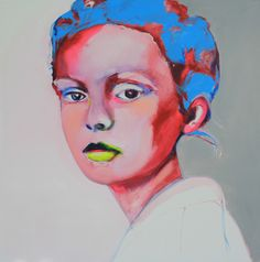 "Saatchi Online Artist: Patricia Derks; Oil, 2013, Painting ""Lola""."