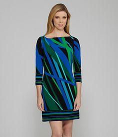 Chaus Boat Abstract-Print Sheath Dress