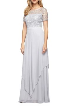 Alex Evenings Sequin Lace & Chiffon Gown available at #Nordstrom