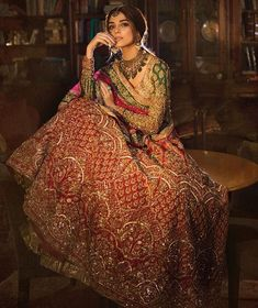 Looking for lehenga design 2018 which you can wear for your wedding? Well, check out this list of 20 lehenga choli designs 2018 which will give you some major inspiration for your bridal lehenga Indian Bridal Outfits, Indian Bridal Lehenga, Red Lehenga, Indian Bridal Wear, Pakistani Bridal Dresses, Indian Dresses, Lehenga Choli, Sabyasachi, Pakistani Lehenga