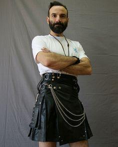 leather kilt for sexy men