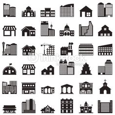 Vector Art : building icons set