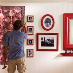 Level Hanging: Hang Artwork and Wall-hangings Straight and Level. Learn how to hang pictures, heavy mirrors, keyhole shelves and quilts so that they're always straight, level and rock solid.