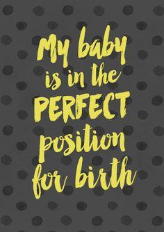 A4 Birth Affirmations 23