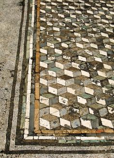 Pompeii tiles - over at least 2,000 years ago! looks like a quilt pattern #interiordesign