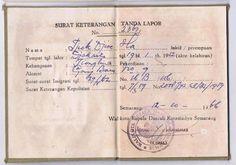 Semarang Indonesie identiteitsbewijs resident kaart 1966