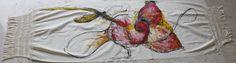 Shawl by mexican artist Sara Waisburd . #CharityCoalition #HandpaintedShawls #Causeanimpact #HelpUs #HelpThem