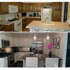 Check out this before and after kitchen done by @inspiredbydecor ... It was a DIY project!   via ✨ @padgram ✨(http://dl.padgram.com)