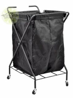 Nylon Rolling Laundry BIN Dirty Gym Towel Metal Storage SPA Salon Equipment PRO by Salon Supply Store. $35.95. Holds up to 140 liters & 37 gallons. Stylish design fits into any home or salon décor. Incredible quality at an even more amazing price. Metal frame guarantees durability & quality. Sturdy & dependable wheels allow for maximum mobility & convenience. This versatile item is a must-have in any salon, gym, or even laundry room. That's right; this incredible bin will accom...