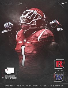 Rutgers Week 1 Game Promo vs. Washington Huskies on Behance