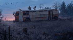 "theartofmany: ""Artist: Stefan Koidl Title: A Chernobyl Horror Story 2 ""Some random artworks inspired from my trip to Chernobyl"" Very scary… "" Dark Fantasy Art, Dark Art, Chernobyl, Arte Horror, Horror Art, Necronomicon Lovecraft, Apocalypse Art, Arte Obscura, Creepy Art"