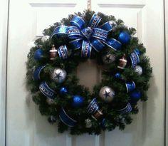 Dallas Cowboys Xmas wreath
