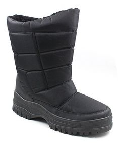Love this Black Pull-On Snow Boot - Men on  zulily!  zulilyfinds 9b6fa0dbd