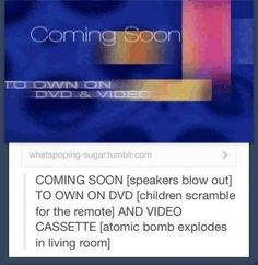 Anyone who owned an old style disney vhs tape will remember this...