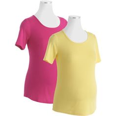$14.88 White Stag Maternity Scoopneck Tee 2-Pack Value Bundle