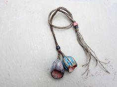 Artisan Ceramic stoneware Beads pods by greybirdstudio on Etsy