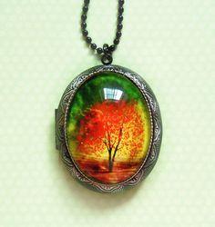 Twilight  Wearable Art LocketValentine's  Gift by youmin on Etsy, $40.00