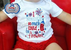 I Sparkle so much I could be a Firework Embroidered Shirt - 4th of July Shirt- Patriotic- Girls Shirt