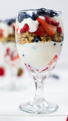 Start your morning right with this patriotic parfait.