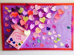 Valentine's day bulletin board idea ❤️