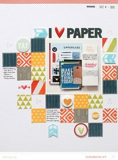 I love paper too too.  Love the blocks and pattern play here.  Fabulous. In a Creative Bubble: Studio Calico Copper Mountain