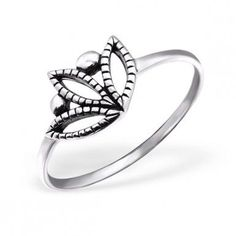 Sprinkle of Silver - Sterling Silver Silver 'Delilah' Ring Size P