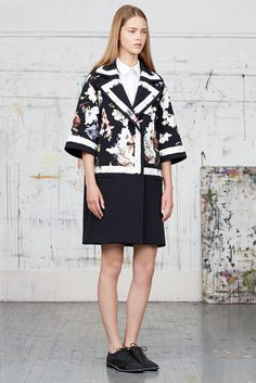 Erdem - Resort 2015, big coat, floral print