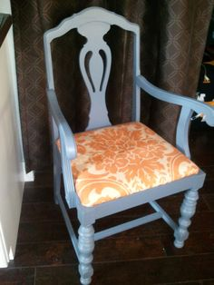 Super cute old chair made new