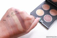 Belleme Brown Smokey Eyeshadow Palette Swatch
