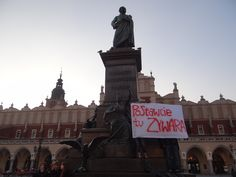 Raise Zywar* here!    * Zywar= our friend (master of words so... Mickiewicz of our times) who had his birthday so we think that our gift for him will be this 4-poople-protest