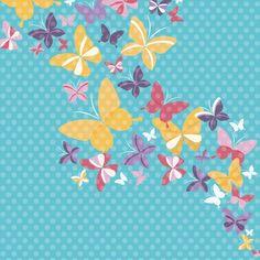 Flower and Garden: Butterfly Garden 12 x 12 Paper