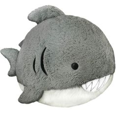 Squishable Great White Shark: An Adorable Fuzzy Plush to Snurfle and Squeeze! Cute Pillows, Diy Pillows, Toy Art, Cute Stuffed Animals, Dinosaur Stuffed Animal, Shark Plush, Shark Gifts, Big Animals, Papa Noel
