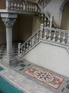 miniature Venetian stairway mosaic