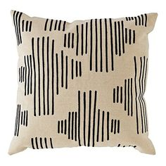 Mod Botanical Throw Pillow (Black Stripe) ❤ liked on Polyvore featuring home, home decor, throw pillows, modern home decor, modern throw pillows, mod home decor, modern accent pillows and embroidered throw pillows