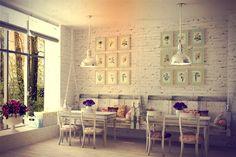 Ein romantisches #Café im #Shabby #Chic Design. Hier lässt es sich doch gerne Essen und Trinken, nicht wahr? ~ www.edlewelt.de ~