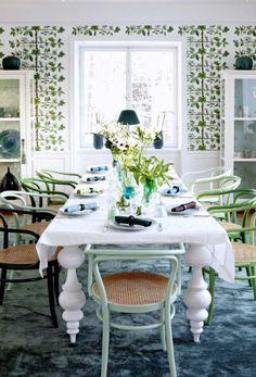 Свежесть зелени в обеденном зале (фотограф Camilla Lindqvist)