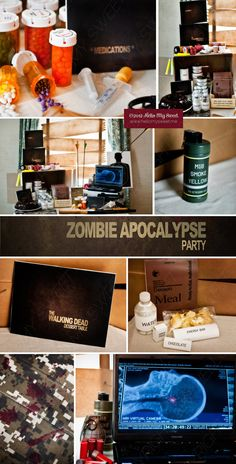 Walking Dead Party  Zombie Party  Halloween Party  by HelloMySweet