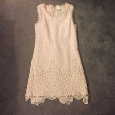 White dress White dress with lace Dresses Midi