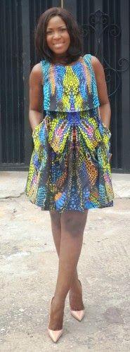 Linda Ikeji in Stylish African Prints ~Latest African Fashion, African Prints, African fashion styles, African clothing, Nigerian style, Ghanaian fashion, African women dresses, African Bags, African shoes, Kitenge, Gele, Nigerian fashion, Ankara, Aso okè, Kenté, brocade. ~DK